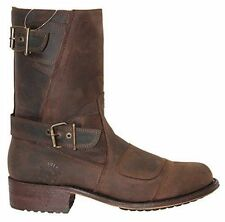 GRINDERS Route 66 Brown CLASSIC Mens Leather Cowboy Western Zipped Pointed Boots