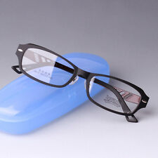 New Style Men Eyeglass Frames TR Frame Metal Leg Full Rim Glasses Frames Coffee
