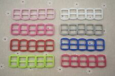 25-1/2'' (12.5mm) Wide Mouth Metal Plastic Triglides Webbing Slides- color