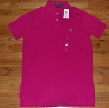 NWT NEW Mens Polo Ralph Lauren Custom Fit Polo Shirt Pony Logo Magenta Pink *3S