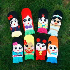 1Pair Women Retro Vintage Cute Cartoon Girls Cotton Ankle Socks Low Cut Socks