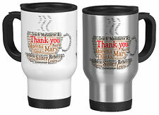 Personalised Travel Mug with Word Art Coffe, Teacher Gift, your own words