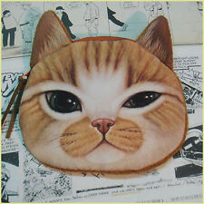 Women Cute Cat Face Kids Child Makeup Bag Pouch Child Coin Wallet Purse Zipper