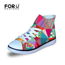 Girls Fashion Canvas Shoes High Top Sneaker Boots Kids Casual Flat Shoes Lace Up