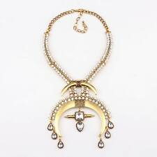 new anchors crystal choker gold plated necklace alloy chain personality necklace