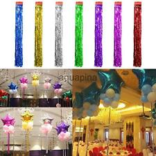 Metallic Shiny Tinsel Foil Tassel Window Curtains Prom Party Decoration