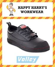 Dunlop Volleys Black Leather Steel Cap Toe NEW WITH TAGS!