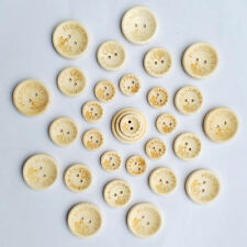 50PCS Love 2 Holes Wooden Buttons Round Sewing Handmade Butterfly DIY
