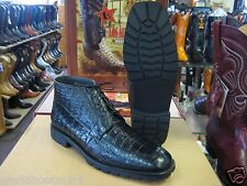 LOS ALTOS GENUINE ALL CROCODILE CAIMAN BLACK MEN ANKLE BOOT EE+ WIDTH ZA2068205