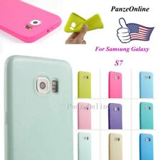 For Samsung Galaxy S7 Ultra Thin Soft Silicone Gel TPU Shockproof Case Cover