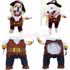 Pet Dog Cat Pirate Design Suit Costume Puppy Halloween Gift Outfit Dress 4 Sizes