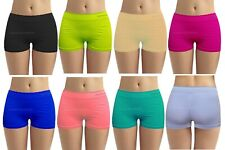 Ladies Girls PLAIN Underwear Hot Pants Brief Boxer Womens Shorts Size S/M-L/XL