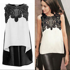 Loose Women's Chiffon Blouse T-Shirt Sleeveless Ladies Casual Tops Vest