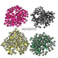 100x Punk Rock Pyramid Studs Spots Spikes for DIY Bag Craft Leathercraft Gift