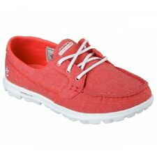Skechers ON THE GO MIST Ladies Womens Canvas Lace Up Boat Cushion Comfort Shoes