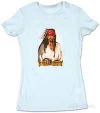 Juniors: Pirates of the Caribbean - Johnny Blue Fade Juniors (Slim) T-Shirt Blue