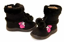 Girls Baby Toddler Kid Infant Fur Winter Boots Flat Heel Shoes Winter Faux Suede