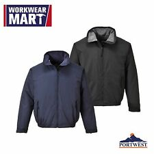 Waterproof Bomber Jacket Fleece Lined Coat Air Flight Portwest US538