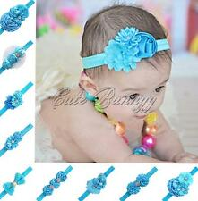 Baby Girls Infant Headband Headwear Rhinestone Flower Hairband Bowknot Accessory