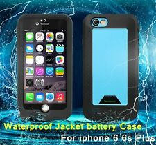 Waterproof Battery Rechargeable Portable Charger Case Cover For iPhone 6 6s Plus