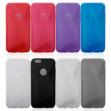 "NEW I PHONE 6S/6 (4.7"")TPU S STYLE GEL SILICONE CASE WITH LOGO CIRCLE ONLY £4.99"
