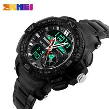 Digital Men Quartz Luxury Sport Army Analog Date LED Stainless Steel Watch T2A2