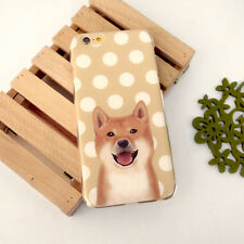 Ultra Case Cute Dog Brown polka dots Clear Hard / Soft Case for iPhone 6 6s plus