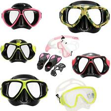 Outdoor Adult Scuba Snorkeling Swimming Tempered Glass Diving Mask Goggles W4A5
