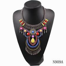 new pendant acrylic bead statement chunky vintage alloy chain necklace for women