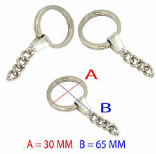High Quality Silver Tone Split Ring With 4 link Chain Key Ring Blank Key Chain