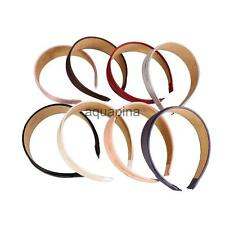8 Colors Vintage Wide Synthetic Leather Headband Hair Band Accessories