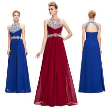 New Beaded Evening Formal Long Prom Dresses Bridesmaid Ball Pageant Party Gowns