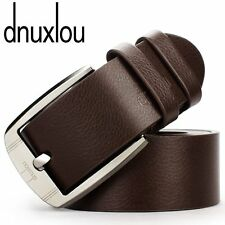 New 1Pcs Men's Casual Dress Faux Leather Belt Pin Buckle Belts Waistband-2 Color