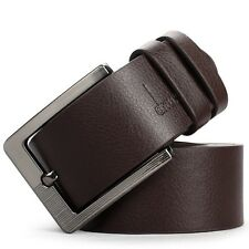 Men's Casual Dress Faux Leather Belt Pin Buckle Belts Waistband - Black/Brown
