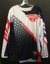 NEW FLY RACING 'KINETIC' JERSEY - MX * BMX - BLACK/WHITE/RED - ADULT XLARGE