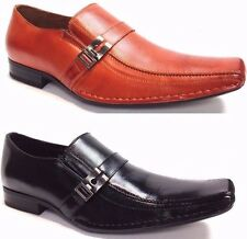 MEN DELLI ALDO SLIP ON ITALIAN STYLE CASUAL DRESSY FASHION SHOES /LEATHER LINING