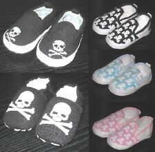 Baby SKULL Shoes Newborn Baby Slip-On Shoes Infant Skull & Crossbones Soft Soles