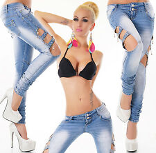 Sexy Women's Wash Blue Jeans Trousers Skinny Hipsters Stylish Slim L 625