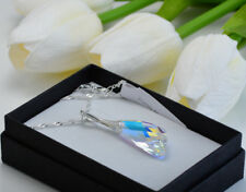 925 Sterling Silver Necklace made with Swarovski Crystals *Crystal AB* Wing