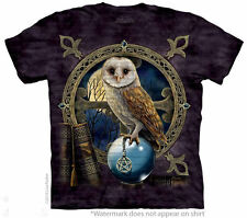 Owl Totem Tee Shirt  Pentacle T-Shirt Crystal Ball by Nemesis Now Artist Wiccan
