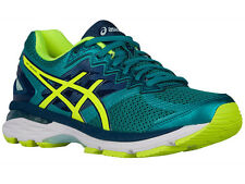 NEW WOMENS ASICS GT-2000 V4 GEL RUNNING SHOES TRAINERS LAPIS / SAFETY YELLOW