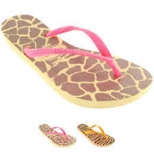 Womens Havaianas Slim Animals Fluo Flip Flops Summer Beach Sandals New All Sizes