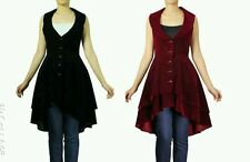 Black / Burgundy Vintage Victorian Gothic Velvet Layered Jacket Top NO 12