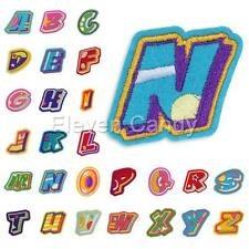 Letters A-Z Alphbet Motif Embroidered Patch Iron Sew On Cloth Decor DIY Applique