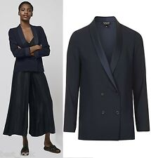 Topshop Navy Soft Tailored Jacket Blazer Size 8 to 16