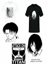 Attack On Titan- -t-shirt collection design Black/White Anime fanart unofficial
