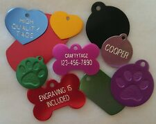 Custom ENGRAVED PET TAG Personalized Dog ID Charm IDENTIFICATION Cat ID Tags