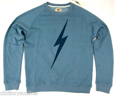 Lightning Bolt Long Sleeve Crew Neck Sweater Bolt Provincial Blue Lightning Bolt
