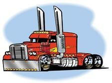 Cartoon Big Rig Semi Truck Freight Hauler T-shirt Freightline automotive art