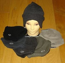 New Men German Style Beanie Hat Shaped Flap Cuff Cover Ear Thermal Fleece Lining